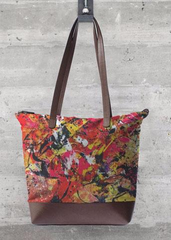 grand sac orange aperato-artiste-peintre-marseille-oeuvre-sur-sac