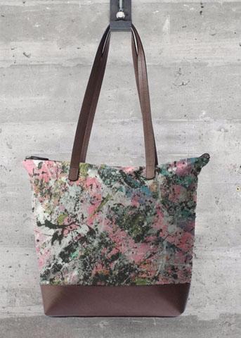 grand sac rose aperato-artiste-peintre-marseille-oeuvre-sur-sac-a-main