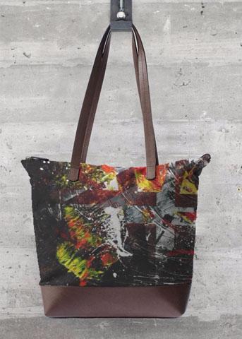 grand sac noir aperato-artiste-peintre-marseille-oeuvre-sur-sac-a-mains
