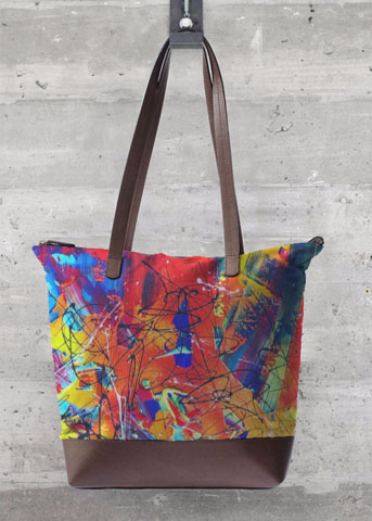 grand sac orange aperato-artiste-peintre-marseille-sac-colore-peinture