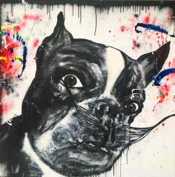 aperato-artiste-peintre-toile-marseille-DALI-DOG 100X100