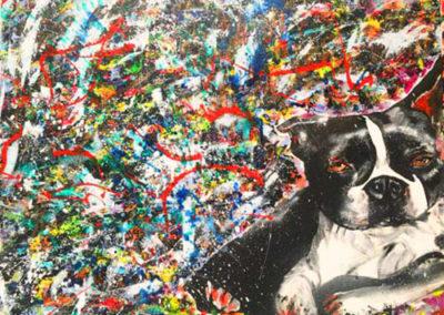aperato-artiste-peintre-toile-marseille-THE GENTLEMAN 115X90