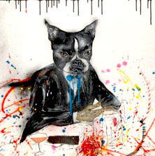 HUSDOG 100X100 APERATO ARTISTE PEINTRE MARSEILLE série DOG