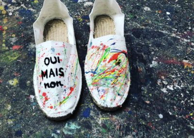 OUI MAIS NON espadrilles artiste peintre marseille