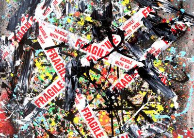 BLACK OPIUM 90X114 APERATO ARTISTE PEINTRE MARSEILLE SERIE FRAGILE