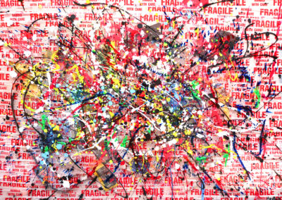 FRAGILE RED 150x100 APERATO ARTISTE PEINTRE PLEXI 150X100