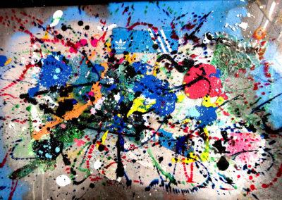 APERATO ARTISTE PEINTRE MARSEILLE EXPO  GALERIE D'ART SERIE PLEXI POPART STREET ART ADIBLUES 150X100