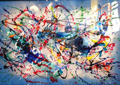 APERATO ARTISTE PEINTRE MARSEILLE EXPO  GALERIE D'ART SERIE PLEXI POPART STREET ART WINSTONBLUES 150X100