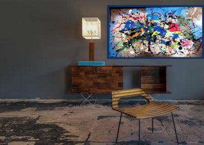 ARTICLE LE DAUPHINE EXPLOSION DE COULEUR APERATO ARTISTE PEINTRE MARSEILLE FRENCH ARTIST EXPO GALERIE D'ART MARSEILLE