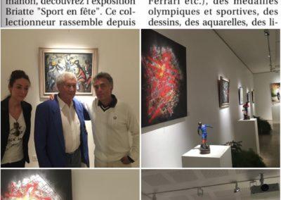 APERATO GERARD HOLTZ ARTISTE PEINTRE EXPOSITION SPORT PARIS JOURNAL PRESS
