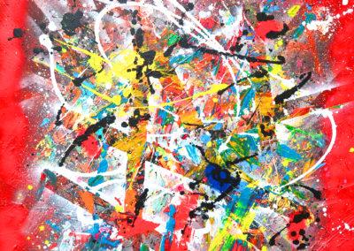 NERVURES SPANTIK 100X100 APERATO ARTISTE PEINTRE ART GALERIE CONTEMPORAIN MARSEILLE