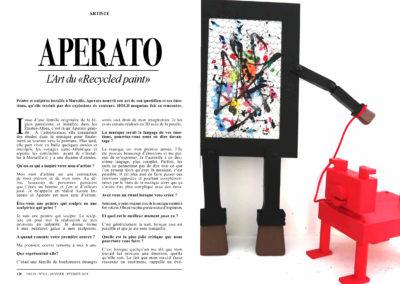 APERATO HOLD MAGAZINE ARTISTE PEINTRE 1