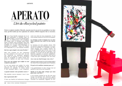 PRESSE APERATO HOLD MAGAZINE ARTICLE 1
