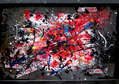 APERATO ARTISTE PEINTRE MARSEILLE EXPO  GALERIE D'ART SERIE PLEXI POPART STREET ART BLACKMARS 150X100 APERATO ARTISTE PEINTRE MARSEILLE
