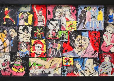 FREDDY 150X90 APERATO ARTISTE PEINTRE MARSEILLE EXPO GALERIE D'ART POPART STREET ART