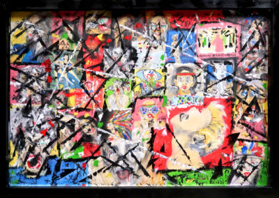 MADOPIC 120X60 OIL PAINTING APERATO ARTISTE PEINTRE APERATO ARTISTE PEINTRE OIL PAINTING POPART STREET ART HUILE PATCHWORK SERIE ARTISTE PEINTRE CONTEMPORAIN MARSEILLE PARIS TEL AVIV NEW YORK MIAMI PARIS