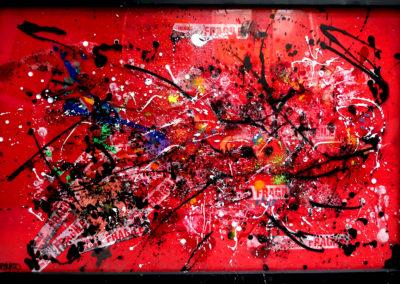 APERATO ARTISTE PEINTRE MARSEILLE EXPO  GALERIE D'ART SERIE PLEXI POPART STREET ART TERREDEMARS 150X100 APERATO ARTISTE PEINTRE MARSEILLE