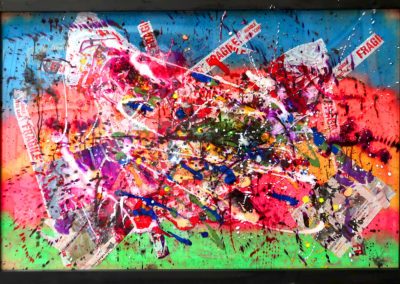 LEZARD FURAX 150X100 APERATO ARTISTE PEINTRE MARSEILLE EXPO ART CONTEMPORAIN GALERIE D'ART