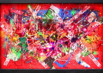 LUCKY ESCAPE 150X100 APERATO ARTISTE PEINTRE MARSEILLE EXPO GALERIE D'ART POPART STREET ART