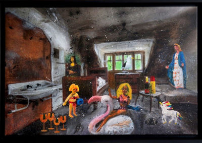 BARBIEMADONE 75X50 aperato artiste peintre