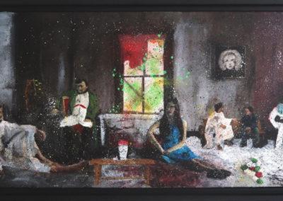 JESUSCAPSULE 80X40 aperato artiste peintre
