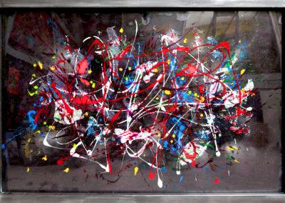 PALERME ACIER 150X100 APERATO ARTISTE PEINTRE MARSEILLE EXPO  GALERIE D'ART SERIE PLEXI POPART STREET ART