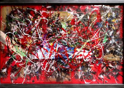 XWB ACIER 150X100 APERATO ARTISTE PEINTRE MARSEILLE EXPO  GALERIE D'ART SERIE PLEXI POPART STREET ART