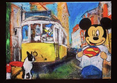 MICKEY LISBONNE 40X32 APERATO ARTISTE PEINTRE